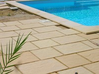 pool terrace paving