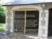 Garage door cladding stones