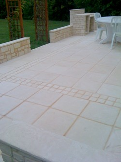 terrace limestone paving